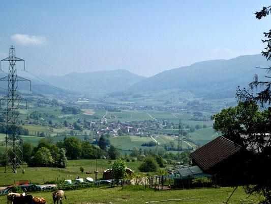 Blick durch das Tal Richtung Osten