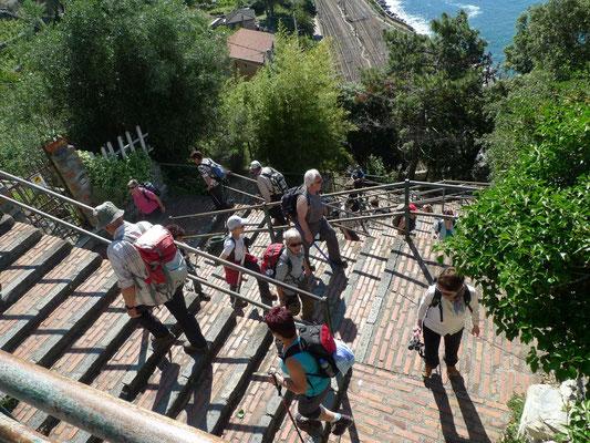 Die 33 Abschnitte mit den 377 Treppenstufen