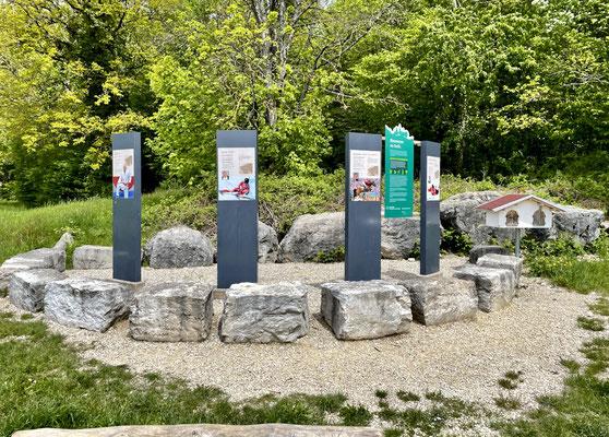 Start und Ziel der olympischen Waldweg-Tour beim Château de Domont