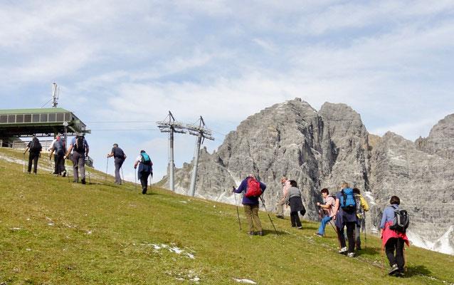 Aufstieg zur Sennjoch-Hütte