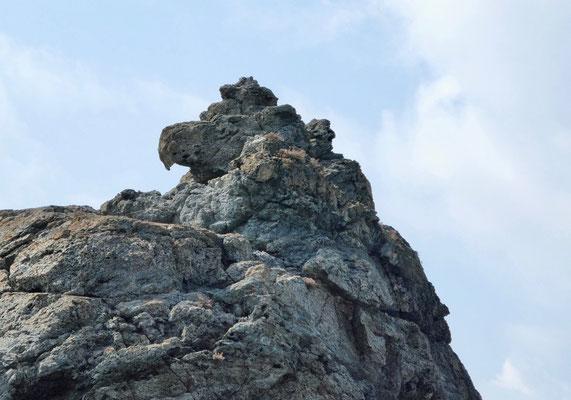 Fels des Adlers am Wendepunkt zur Westküste