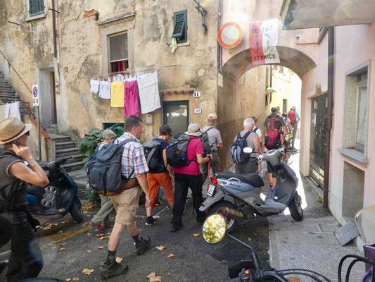 Start zur Wanderung in San Piero