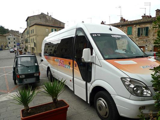 Chiusdino, Ausgangspunkt der Wanderung nach San Galgano