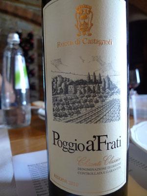 Eine Flasche der Weinprobe