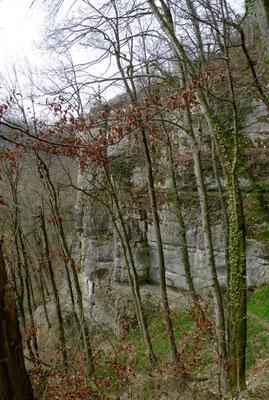 Abstieg zur Bruderlochhöhle