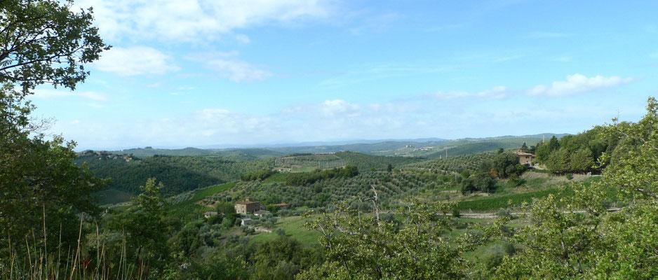 Blick über Borgo Casa al Vento
