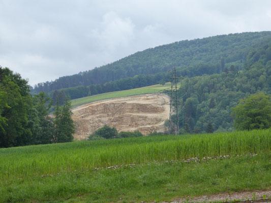 Der grosse Steinbruch von Courrendlin