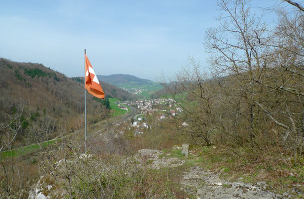 Blick von der Oedenburg auf Tecknau