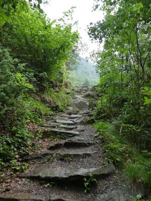 Aufstieg zum Sonnenberg-Panoramaweg