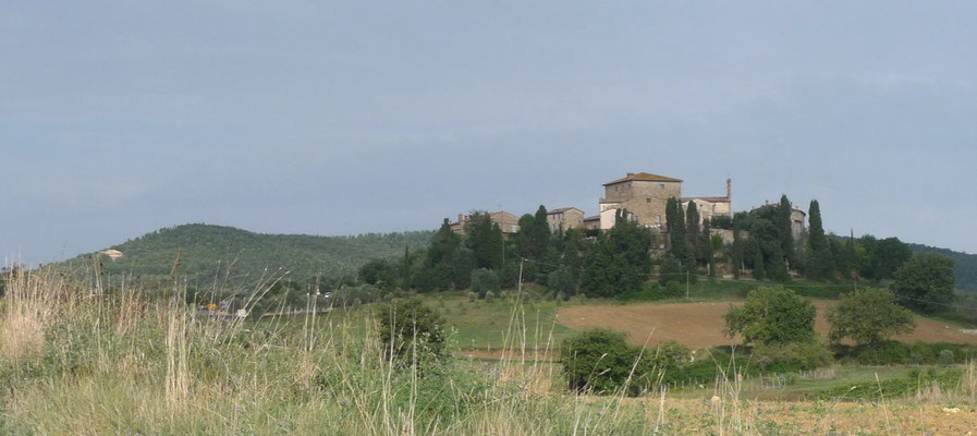 Murlo, das mittelalterliche Dorf, das wir nach der Wanderung besuchen