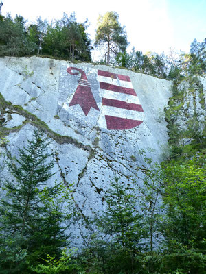 Jura-Tappe oberhalb Courételle