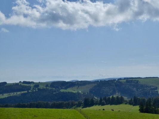 Alpenpanorama im Dunst