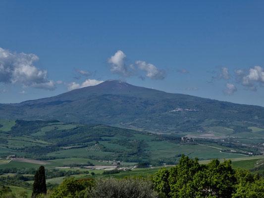 Immer wieder im Blickfeld, dem Monte Amiata