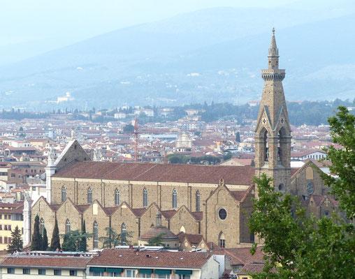Lirche santa Croce von Michelangelo-Platz