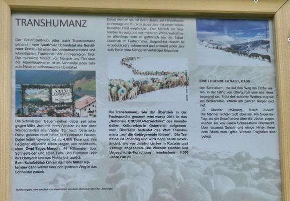 Beschreibung der Transhumanz