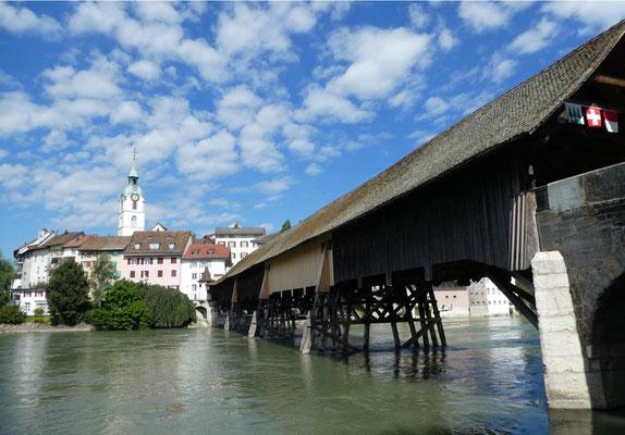 Oltener Holzbrücke über die Aare