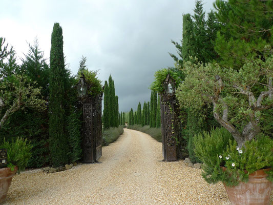 Zufahrt zum Relais Borgo Santo Pietro