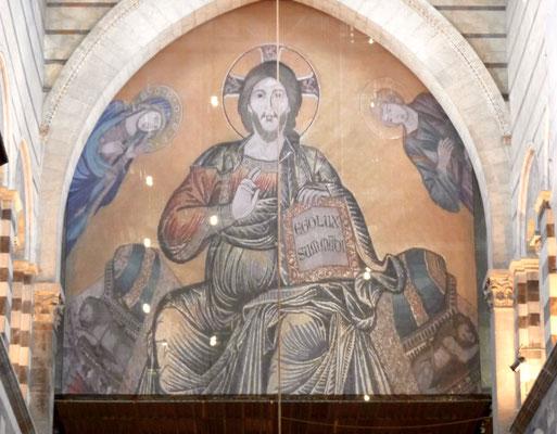 Mosaik des Christus Pantokrator in der Apsis
