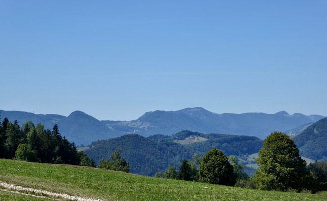 Blick auf die erste Juraketten, Balmberg - Weissenstein