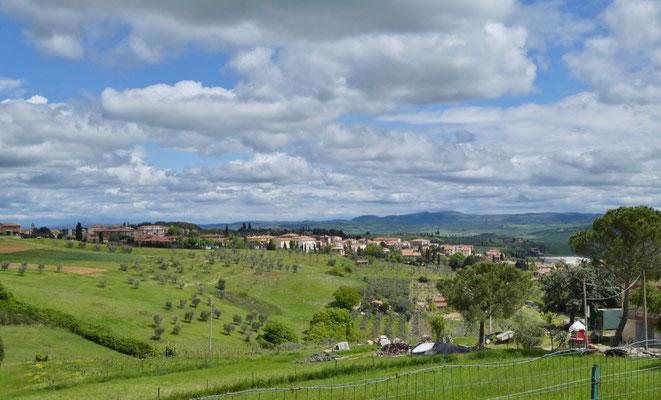 Blick zurück nach San Quirico