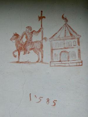 Fresko an der Kapelle