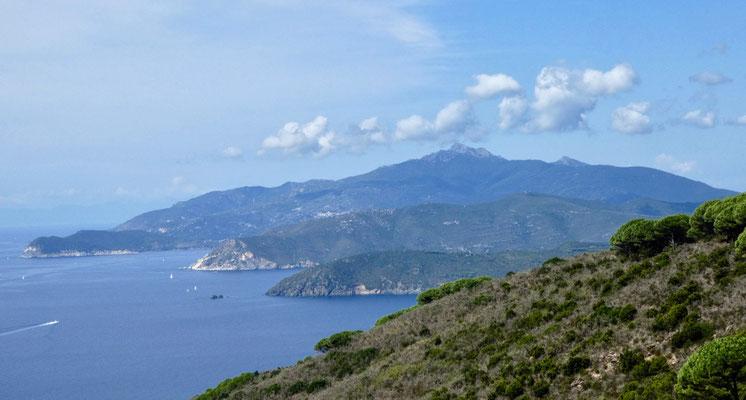 Südküste von Elba mit dem Monte Capanne
