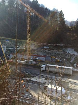 Baustelle des neuen Autobahntunnels