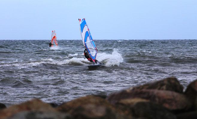 Cutback Windsurfen