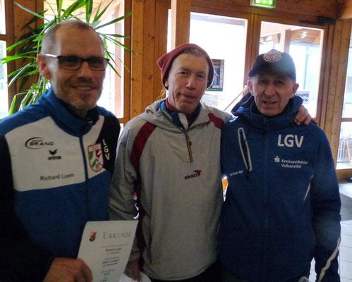 erfolgreiche Senioren: Richard Luxen, Willi Jöxen und Viktor Lieder, Foto: Reifferscheid