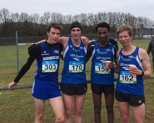 Tim Dülfer (PST Trier), Nicolas Krämer, Samuel Fitwi und Christoph Gallo, Foto: LGV