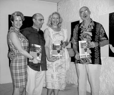 """2004 - nzo Cursaro - Inaugurazione """"Nero-Argento"""" nei locali-laboratorio di ceramica dove ha lavorato Pablo Picasso - Vallauris."""