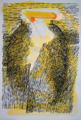 LA GIARA n°8 - 2017 - 77,3x52,3cm-acrilico su cartoncino