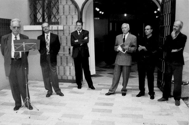 1999 - Enzo Cursaro - Inaugurazione mostra Museo Pinacoteca di Bassano del Grappa.