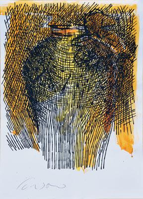 La Giara n°32 - 2017 - 101x72cm. acrilico su carta