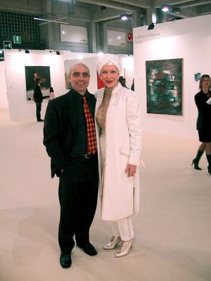 2006 - Enzo Cursaro - Con Md.me Renate Hirch, Fiera d'arte Contemporanea - Bolzano.