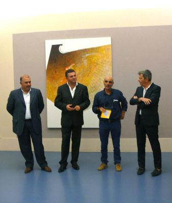 """2012 - Enzo Cursaro - Inaugurazione mostra """"Risonanze"""" Palazzo Civico delle Arti di Agropoli."""
