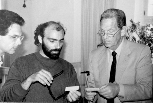 1990 - Con Dr. Gunter Stumptner, Klaine Schlossgalerie - Waiher