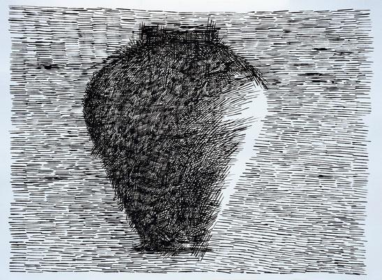 La Giara n°5 - 2016 - 77x104cm. acrilico su carta
