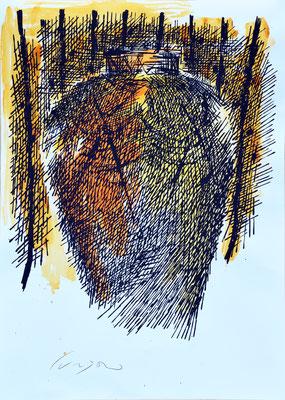 La Giara n°34 - 2017 - 101x72cm. acrilico su carta