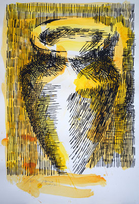 LA GIARA n°5 - 2017 - 77,3x52,3cm - acrilico su cartoncino