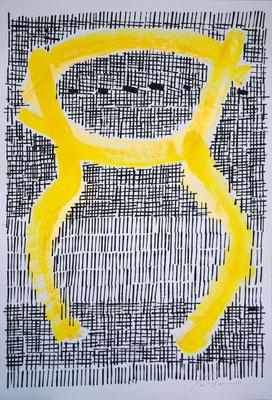 LA GIARA n°7 - 2017 - 77,3x52,3cm-acrilico su cartoncino