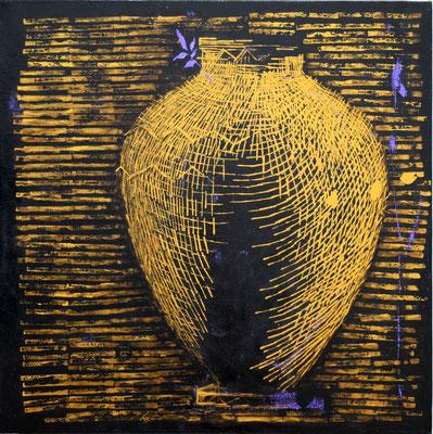La giara dorata 2017 80x80cm - su tela
