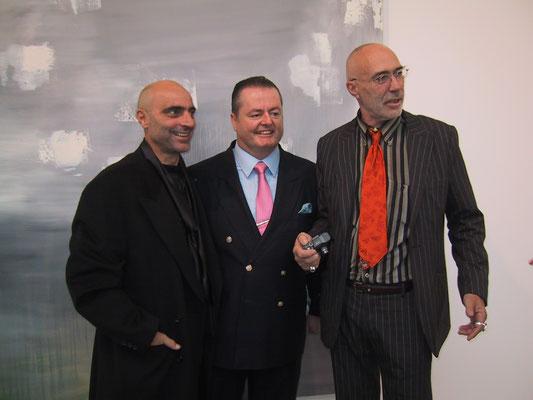 2004 - Enzo Cursaro con Peter Kimmel e l'artista Jurgenn Waller.