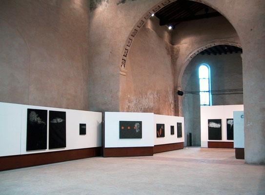 """2005 - Enzo Cursaro - Sospensioni"""" Spazio Arte di Vicenza."""