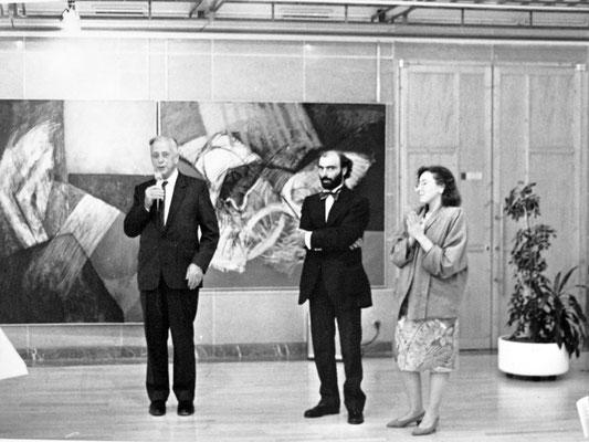 1991 - Enzo Cursaro - Inaugurazione mostra al Palais de la Regione di Poitiers.