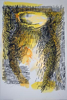 LA GIARA n°3 - 2017 - 77,3x52cm-acrilico su cartoncino