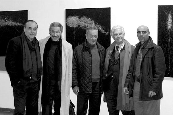 2004 - nzo Cursaro con l'artista Nino Longobardi, Ettore Molinari, Tullio Pironti, Ermanno Rea-Pompeiana, Villa Comunale di Napoli.