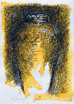 La Giara n°19 - 101x72cm. acrilico su carta.