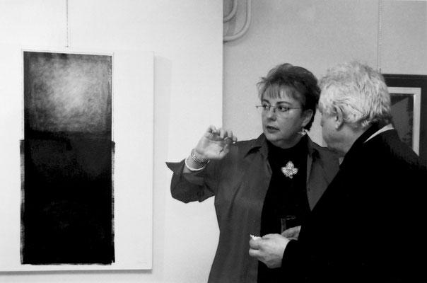 2002 - Galerie La Cité - Con la gallerista e l'artista Jacques Basler, Lausanne.