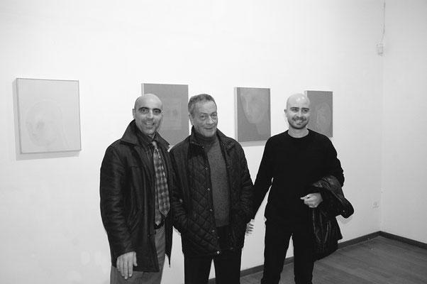 2004 - Enzo Cursaro - Con l'editore Tullio Pironti e l'artista Lello Torchia.